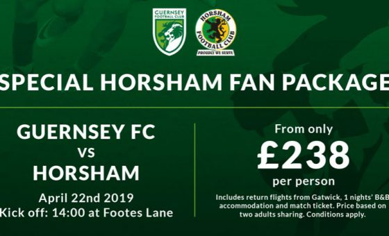 Guernsey v Horsham – travel information